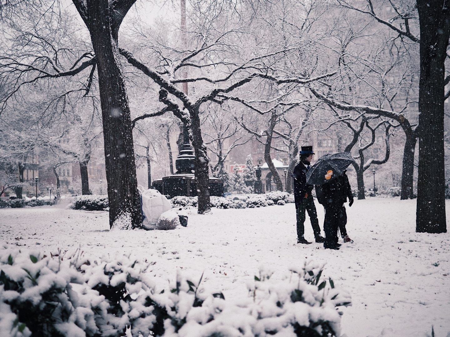 Photography|First Snow at Union Square Park